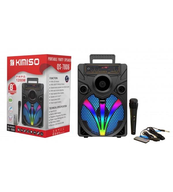 PL-4234 SD-USB 8inc 1200W MİKR. KUMANDALI BLUETOOTH IŞIKLI SPEAKER