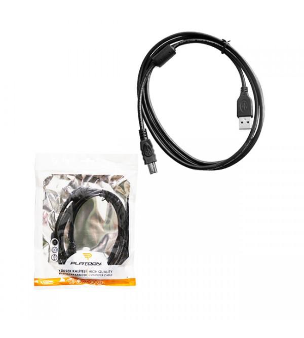 PL-6501 PRINTER POŞETLİ KABLO  USB 2.0 1.5M