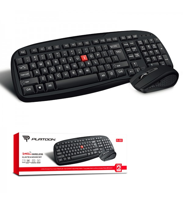 PL-383 WIRELESS KLAVYE&MOUSE SET
