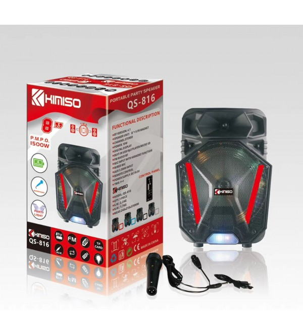 PL-4430 BLUETOOTH SPEAKER KARAOKE MİC. USB/SD