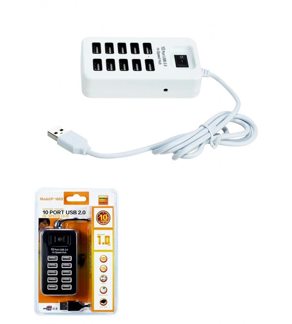 PL-5658 2.0 10 PORT ON/OFF TUŞLU USB HUB