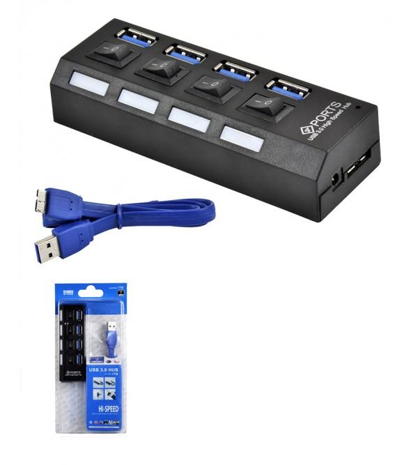 PL-5708 ANAHTARLI 3.0 4 LU USB HUB