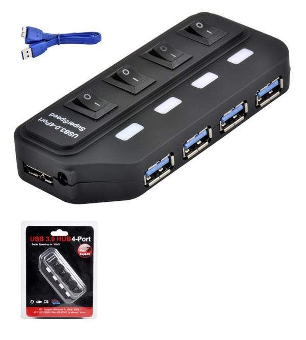 PL-5709 ANAHTARLI 3.0 4 LU USB HUB